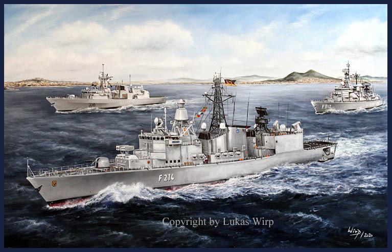 BW Tropen Zerstörer Rommel D187 Lenkwaffen Zerstörer Bundesmarine #31405